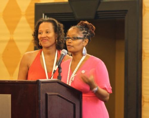 Ananda & Xina @ Blogalicious 2010 Open Mic Luncheon - Photo Credit: Carol Cain