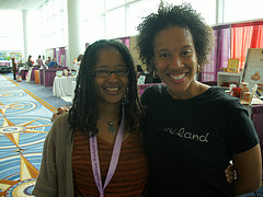 Ananda and Xina at Blogalicious Weekend 2011