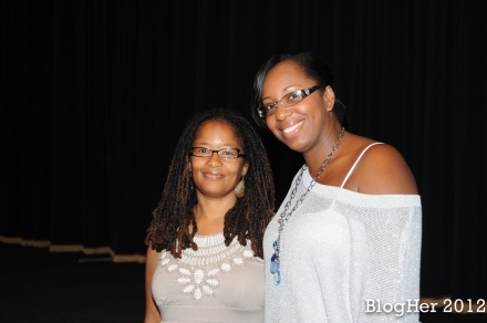 Stacey Ferguson and Ananda Leeke at Brunchalicious event at BlogHer 12 in NYC