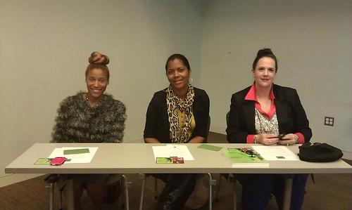 Blogger Town Hall Speakers Krystin Hargrove,  Monica Byrd, and Deb Vaughan