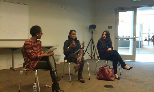 Brea Ellis and DC designers Philissa Williams and Katherine Martinez