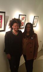 Artist Kesha Bruce and Ananda Leeke