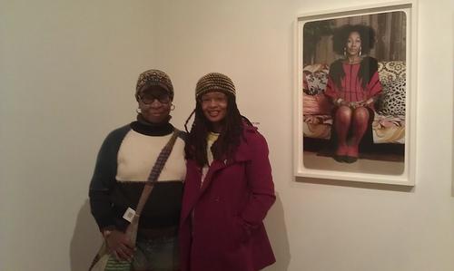 Xenobia Bailey and Ananda Leeke (Ananda is wearing one of Sylvia's hats)