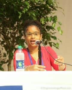 """Ananda speaking at Spelman College's Women of Color Conference - Photo Credit"""" Spelman College"""