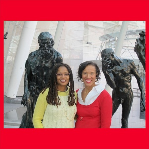 Ananda and Xina Eiland at the Brooklyn Museum DSMonth Field Trip - Photo Credit: Sylvia Wong Lewis