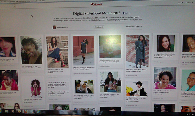 Digital Sisters of the Year on #DSmonth Pinterest Board