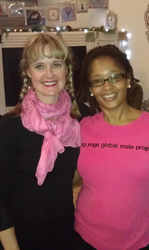 Yoga teachers Kimberly Wilson and Ananda Leeke