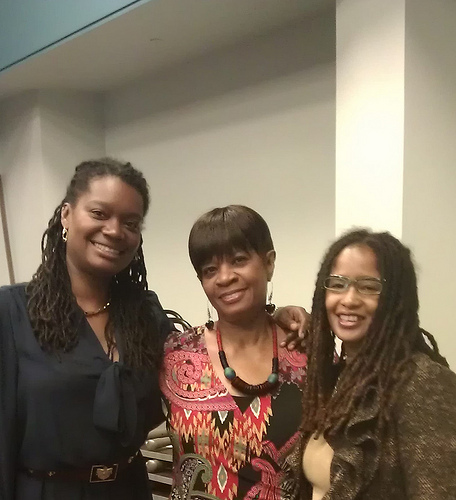 Philissa Williams and her mom & Ananda Leeke at #DSStyleSalon