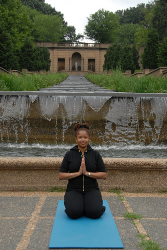 Photo Credit: Leigh Mosley -- Ananda Leeke in Malcolm X - Meridian Hill Park in DC