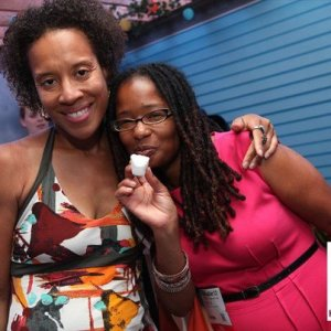 Unplug and hang out with one of your digital sisters in person (Xina Eiland and Ananda Leeke).