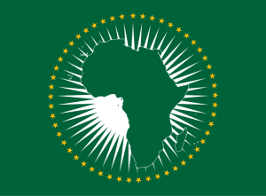 African Union flag honors the countries where Ananda's ancestors are from.