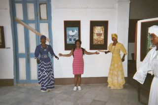 Ananda at Casa de Africa Museum in Habana Vieja, Cuba in 2004