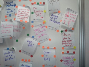 Life Reimagined comments of BlogHer attendees at AARP Expo Booth
