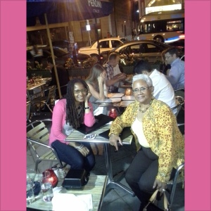 Ananda Leeke and Judy Weathers at Ulah Bistro on U Street, NW in DC