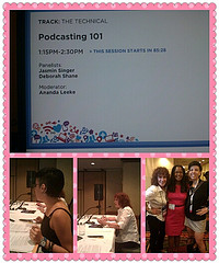 BlogHer 12 Podcasting Panel Photo Collage