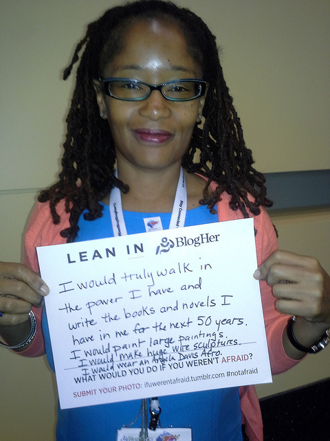 Ananda Leeke at BlogHer 2013 Conference with her Lean In statement