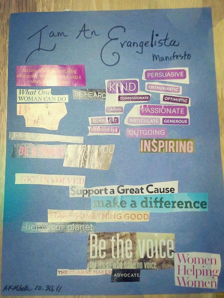 Evangelista collage by Ananda Leeke